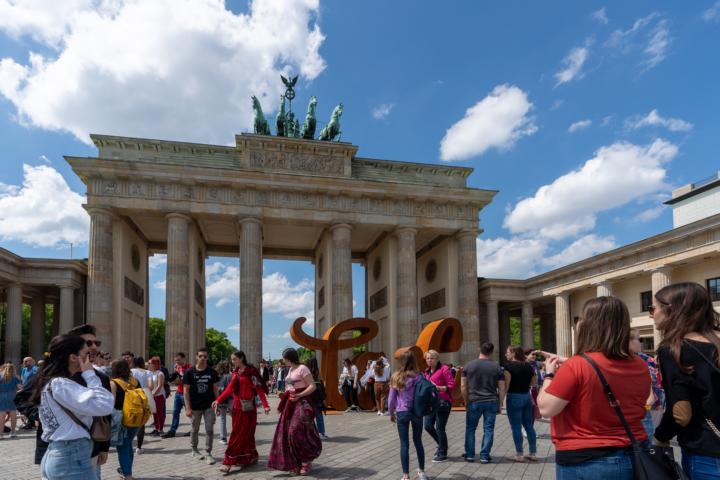 Besuch am Brandenburger Tor